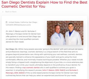 San Diego Dentists Give Tips on Finding the Best Cosmetic Dentist