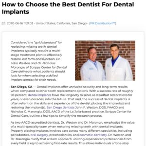 Selecting a Top Dental Team to Place Your Dental Implants
