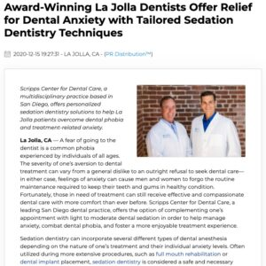 San Diego Dental Practice Can Complement Treatment with Sedation Dentistry